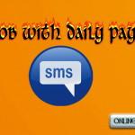 SMS job with daily payment FREE SING UP BONUS Rs-500 No Investment