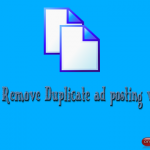 How to Remove Duplicate ad posting websites while doing ad posting jobs?