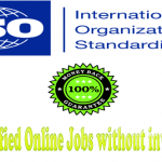 ISO Certified online jobs without investment-[Government Approved]
