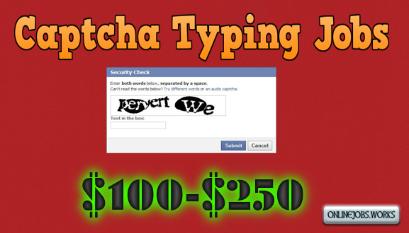 FREE Captcha Typing Jobs in India Daily PayPal Payment
