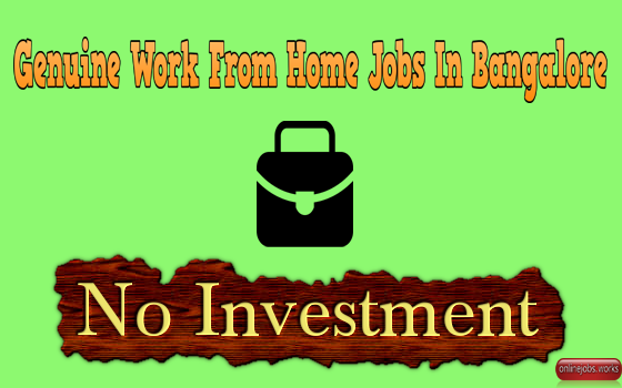 genuine work from home jobs in bangalore without investment