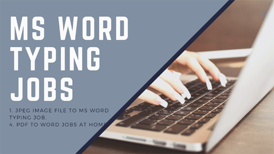 Copy Typing Jobs From Home India